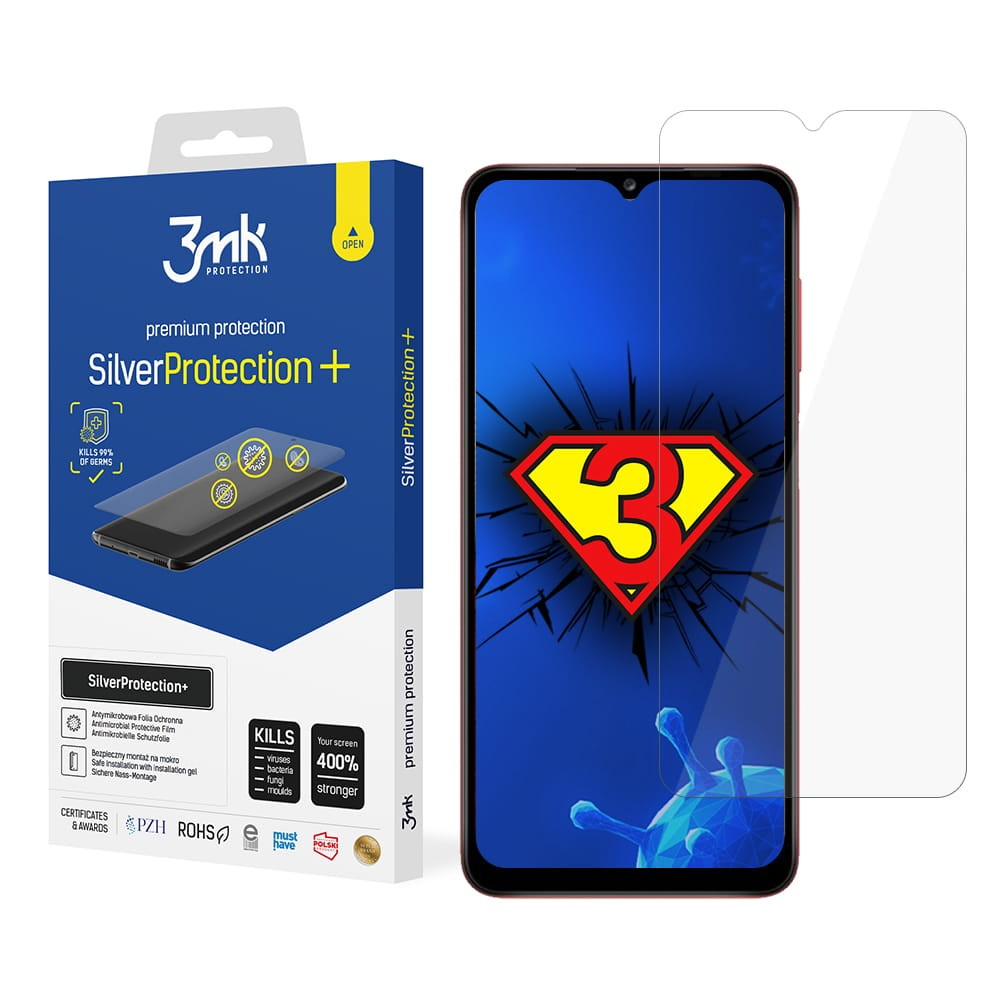 3MK Silver Protect+ Samsung, Galaxy A12, Foil, Clear, Wet-mounted