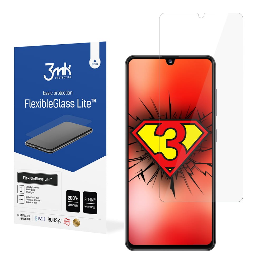 3MK Lite Samsung, Galaxy A41, Hybrid Glass, Clear Screen Protector
