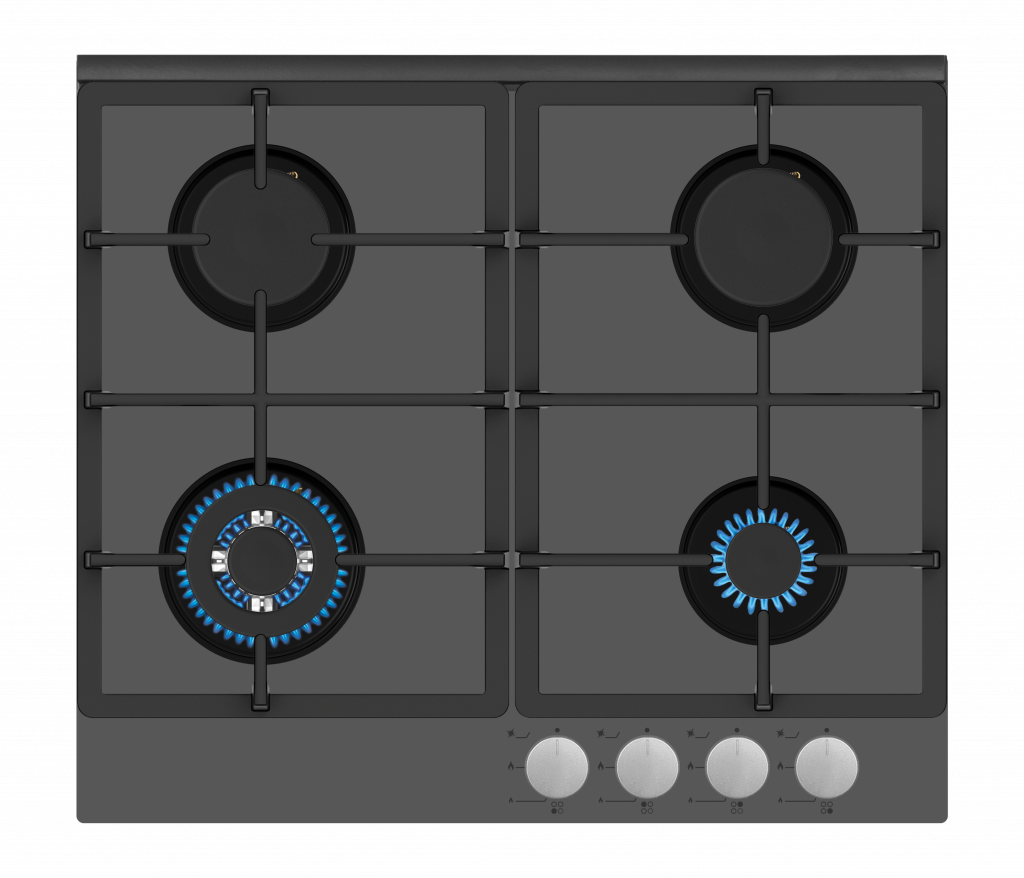 Simfer Hob H6 403 TGWSC Gas on glass, Number of burners/cooking zones 4, Mechanical, Grey