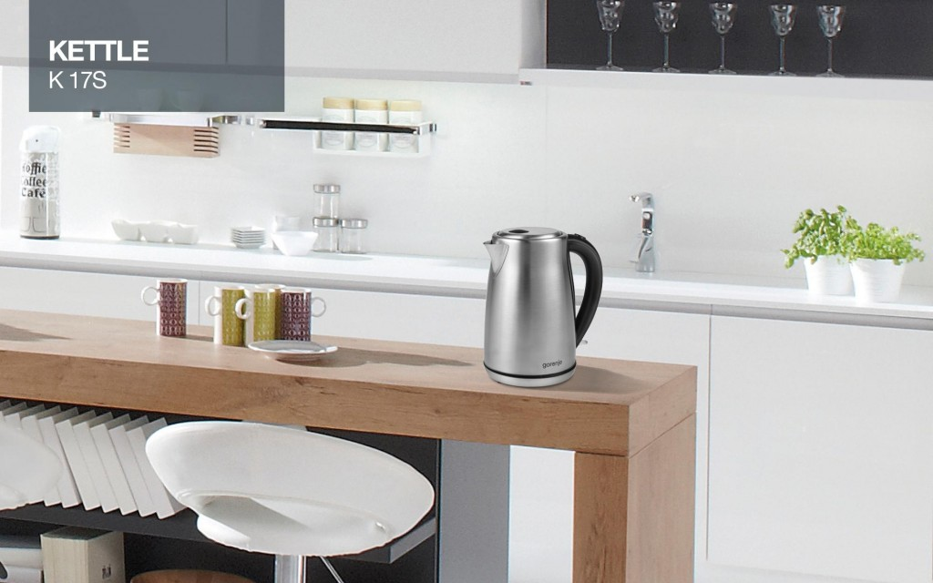 Gorenje Kettle K17S Electric, 2000 W, 1.7 L, Stainless steel, 360° rotational base, Stainless steel