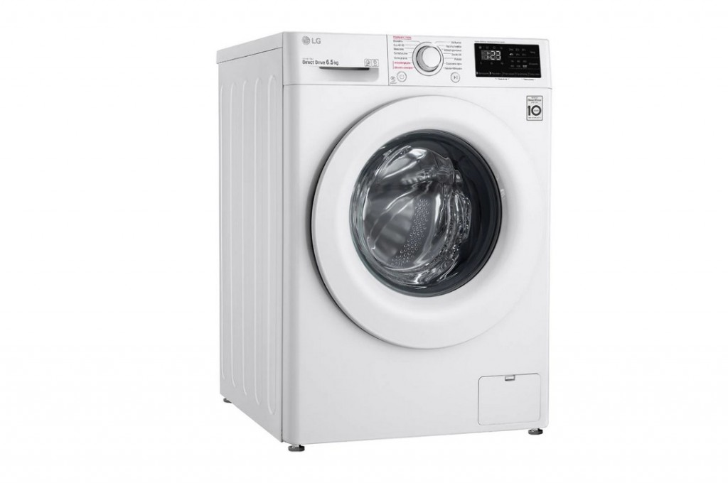 LG Washing machine F2WN2S6S3E Energy efficiency class E, Front loading, Washing capacity 6.5 kg, 1200 RPM, Depth 46 cm, Width 60 cm, Display, LED touch screen, Steam function, Direct drive, Wi-Fi, White