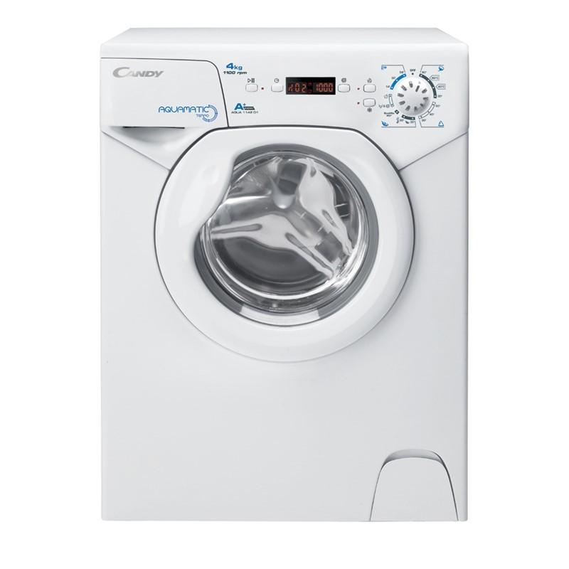 Candy Washing machine AQUA 1142DE/2-S Energy efficiency class F, Front loading, Washing capacity 4 kg, 1100 RPM, Depth 45 cm, Width 51 cm, Display, Digital, White