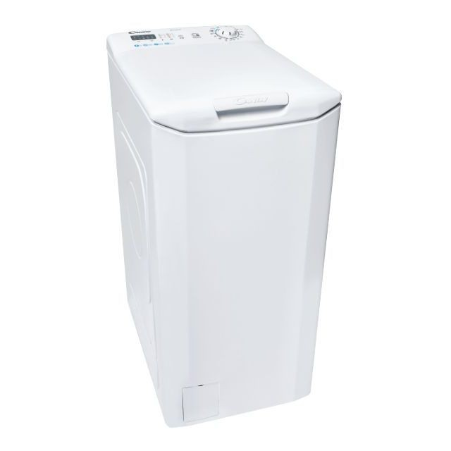 Candy Washing machine CST 27LE/1-S Energy efficiency class F, Top loading, Washing capacity 7 kg, 1200 RPM, Depth 60 cm, Width 40.5 cm, LED, NFC, White