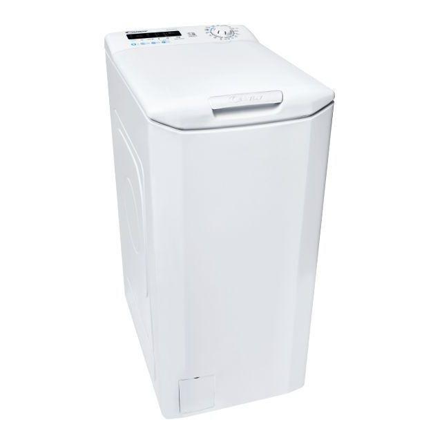 Candy Washing machine CSTG 282DE/1-S Energy efficiency class F, Top loading, Washing capacity 8 kg, 1200 RPM, Depth 60 cm, Width 40.5 cm, NFC, White