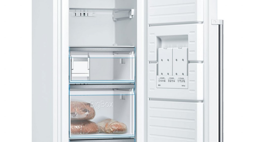 Bosch Freezer GSN36AWEP Energy efficiency class E, Free standing, Upright, Height 186 cm, No Frost system, Display, 39 dB, White