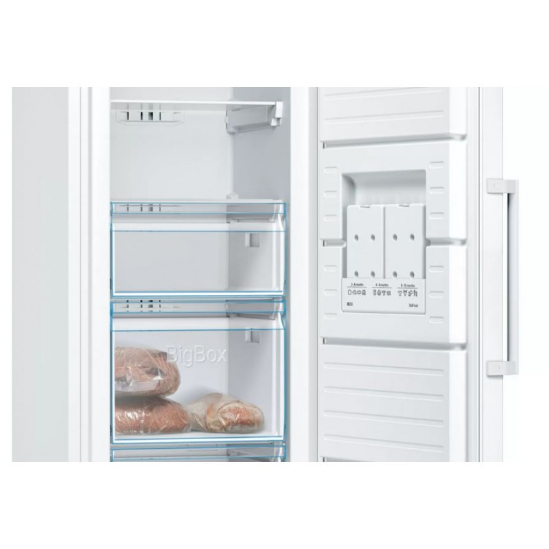 Bosch Freezer GSN36VWFP Energy efficiency class F, Free standing, Upright, Height 186 cm, No Frost system, Display, 39 dB, White