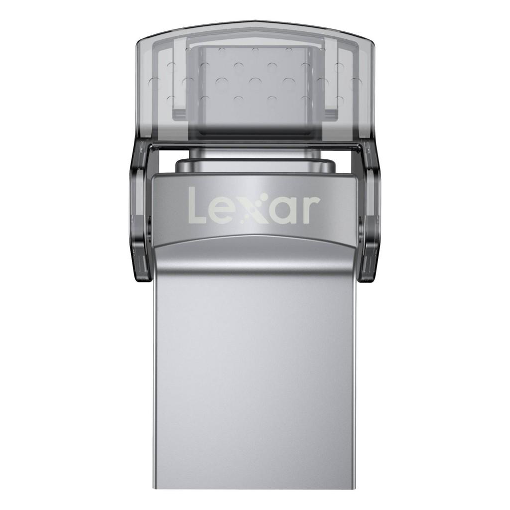 Lexar Flash Drive JumpDrive 32 GB, USB 3.0, Sliver, USB Type-C/USB Type-A, 100 MB/s