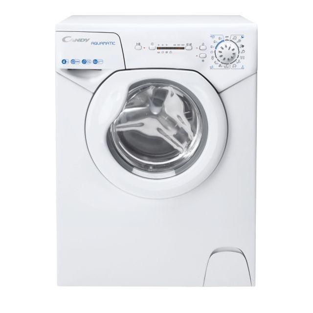 Candy Washing Machine AQUA 104LE/2-S Energy efficiency class F, Front loading, Washing capacity 4 kg, 1000 RPM, Depth 43.5 cm, Width 51 cm, Display, LED, White