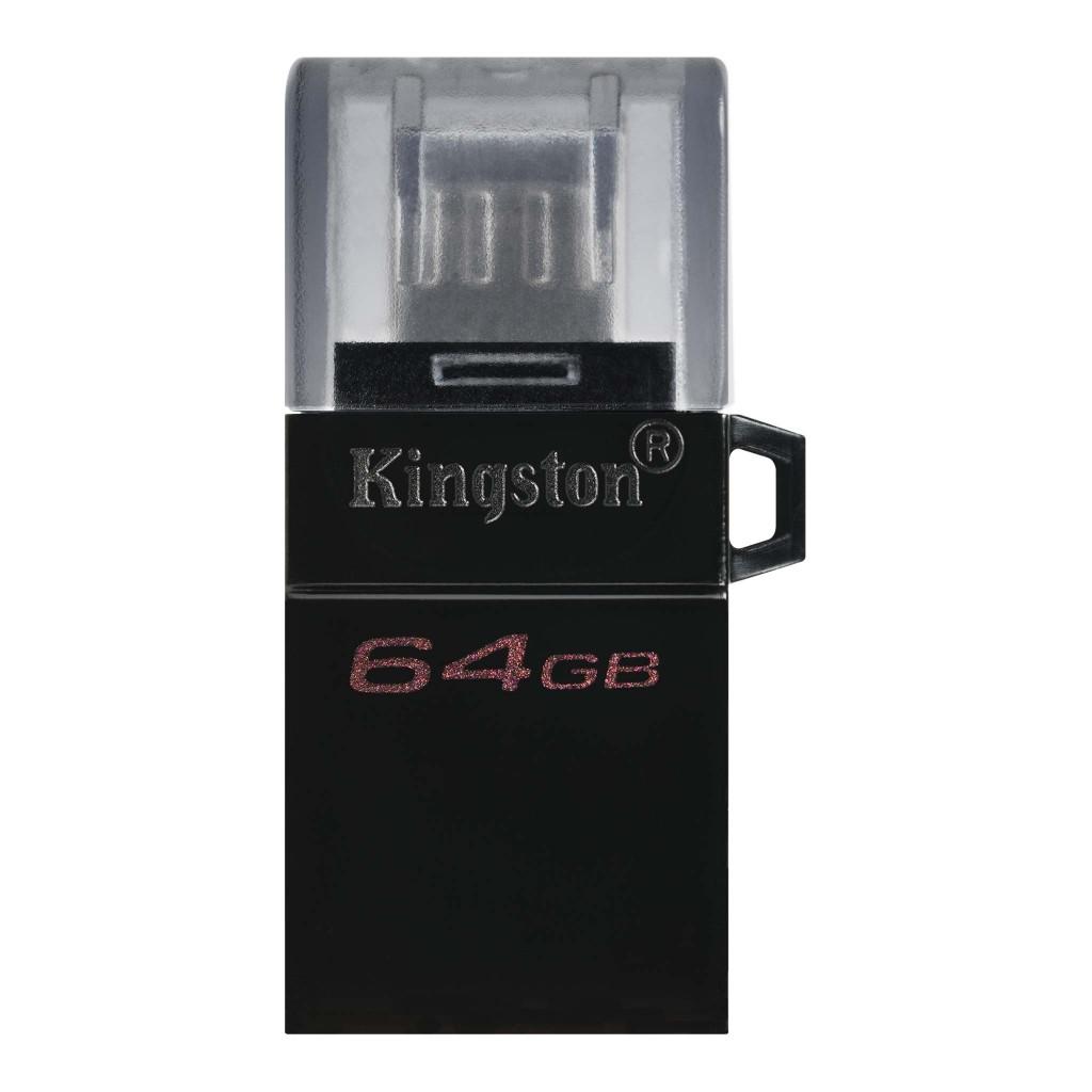 Kingston DataTraveler microDuo 3.0 G2 64 GB, USB Type-A and microUSB, Black