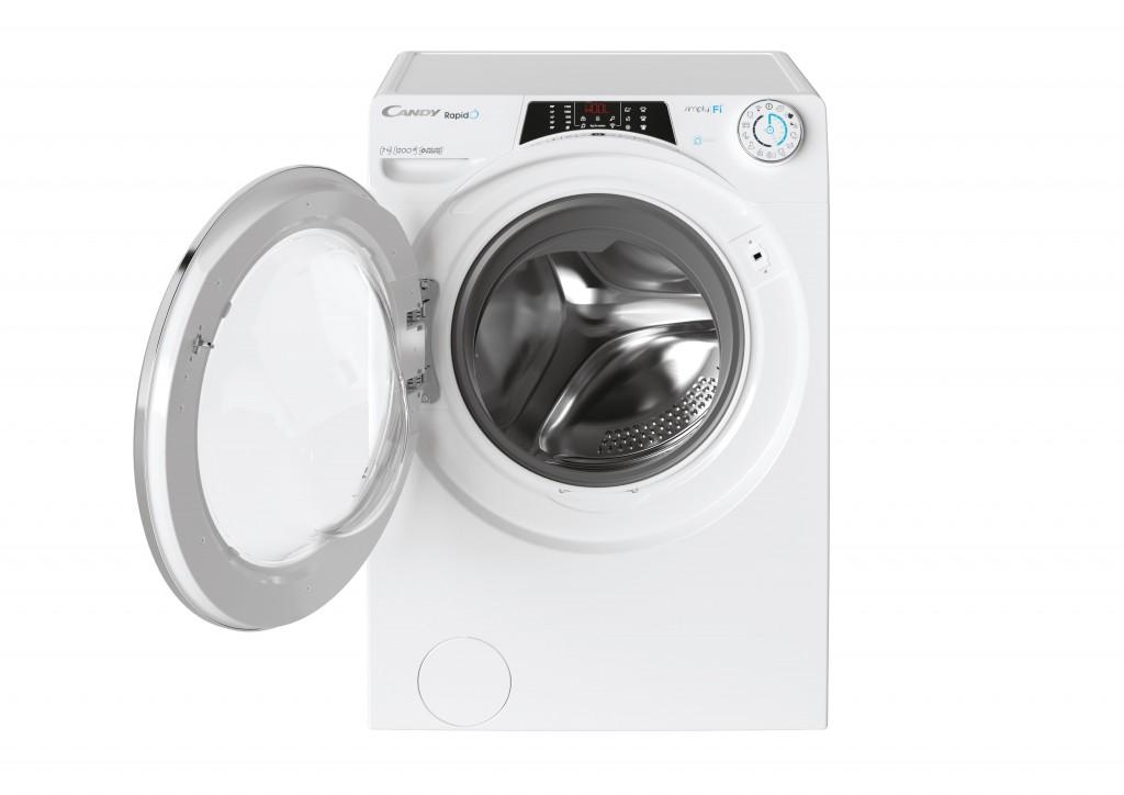 Candy Washing Machine RO41274DWMCE/1-S Energy efficiency class A, Front loading, Washing capacity 7 kg, 1200 RPM, Depth 45 cm, Width 60 cm, Display, Wi-Fi, White