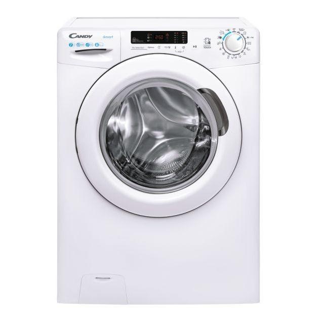 Candy Washing mashine CS 1072DE/1-S Energy efficiency class D, Front loading, Washing capacity 7 kg, 1000 RPM, Depth 49 cm, Width 60 cm, 2D, NFC, White