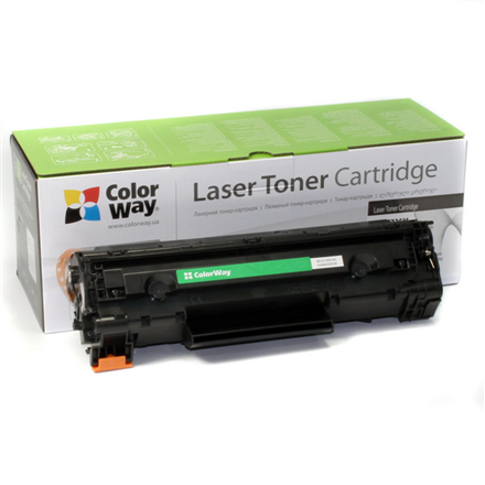 ColorWay Toner Cartridge, Black, Canon: 725, HP CE285A