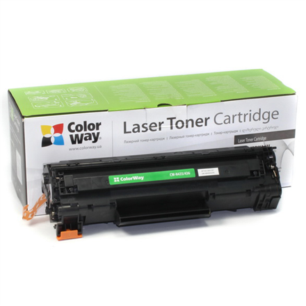 ColorWay Toner Cartridge, Black, HP CB435A/CB436A/CE285A; Canon 712/713/725