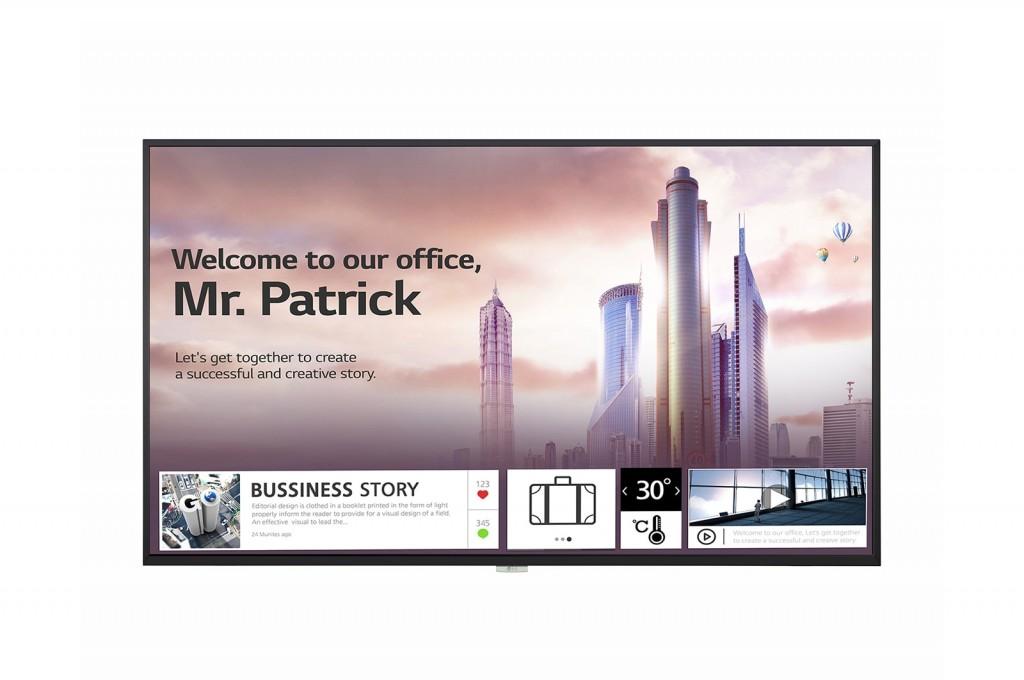 """LG UH5F Digital signage lameekraan 139,7 cm (55"""") IPS 4K Ultra HD Must Sisseehitatud protsessor Web OS"""
