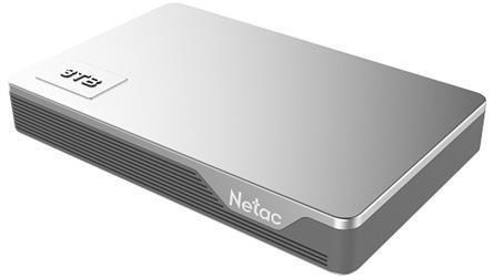 External HDD NETAC NT05K338N-004T-30SL 4TB USB 3.0 Buffer memory size 8 MB Colour Silver NT05K338N-004T-30SL