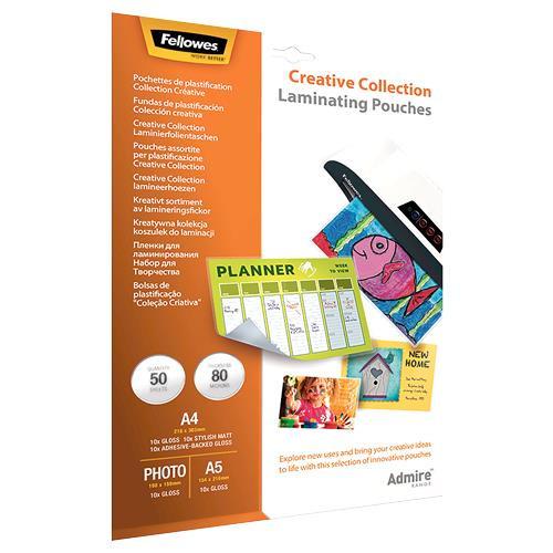 LAMINATING POUCH CREATIVE SET/50PCS 5602301 FELLOWES