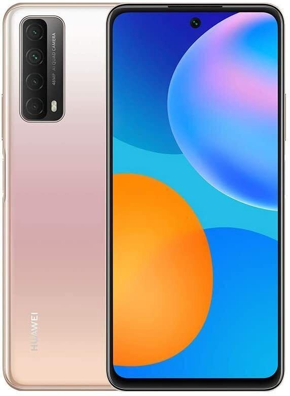 "Huawei P Smart 2021 Blush Gold, 6.67 "", IPS LCD, 2400 x 1080 pixels, Kirin 710A, Internal RAM 4 GB, 128 GB, MicroSDXC, Dual SIM, Nano-SIM, 3G, 4G, Main camera 48+8+2+2 MP, Secondary camera 8 MP, Android, 10.0, 5000 mAh"