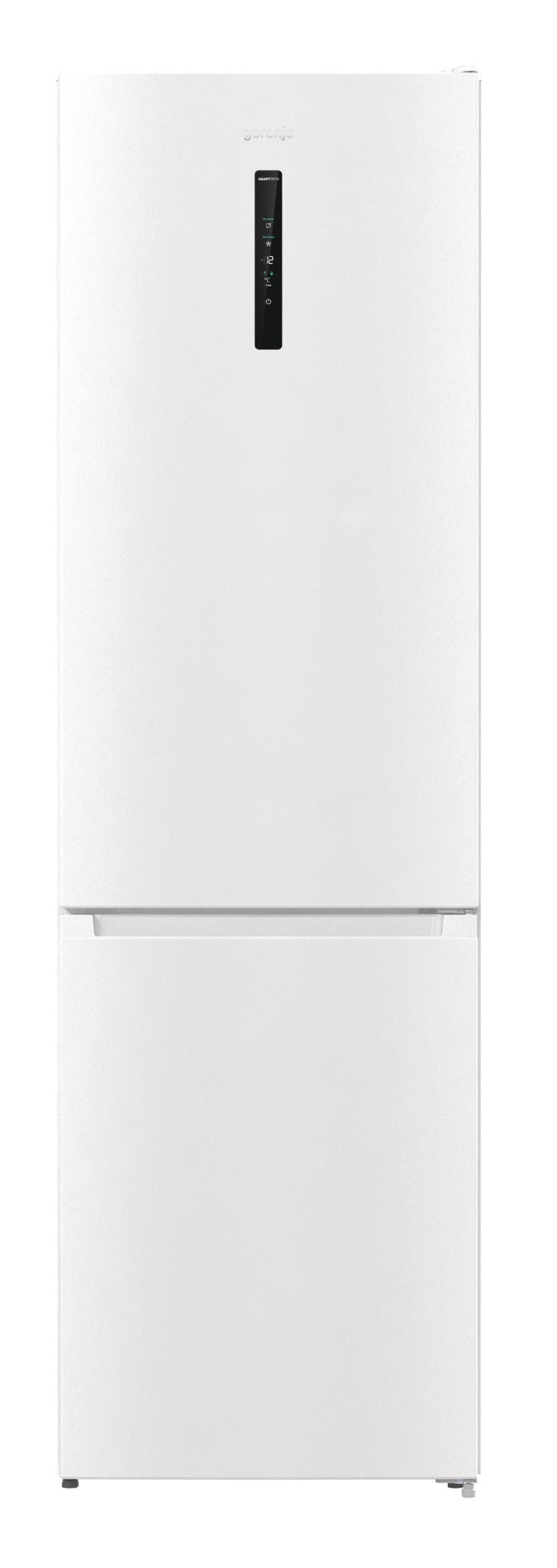 Gorenje Refrigerator NRK6202AW4 Energy efficiency class E, Free standing, Combi, Height 200 cm, No Frost system, Fridge net capacity 235 L, Freezer net capacity 96 L, Display, 38 dB, White