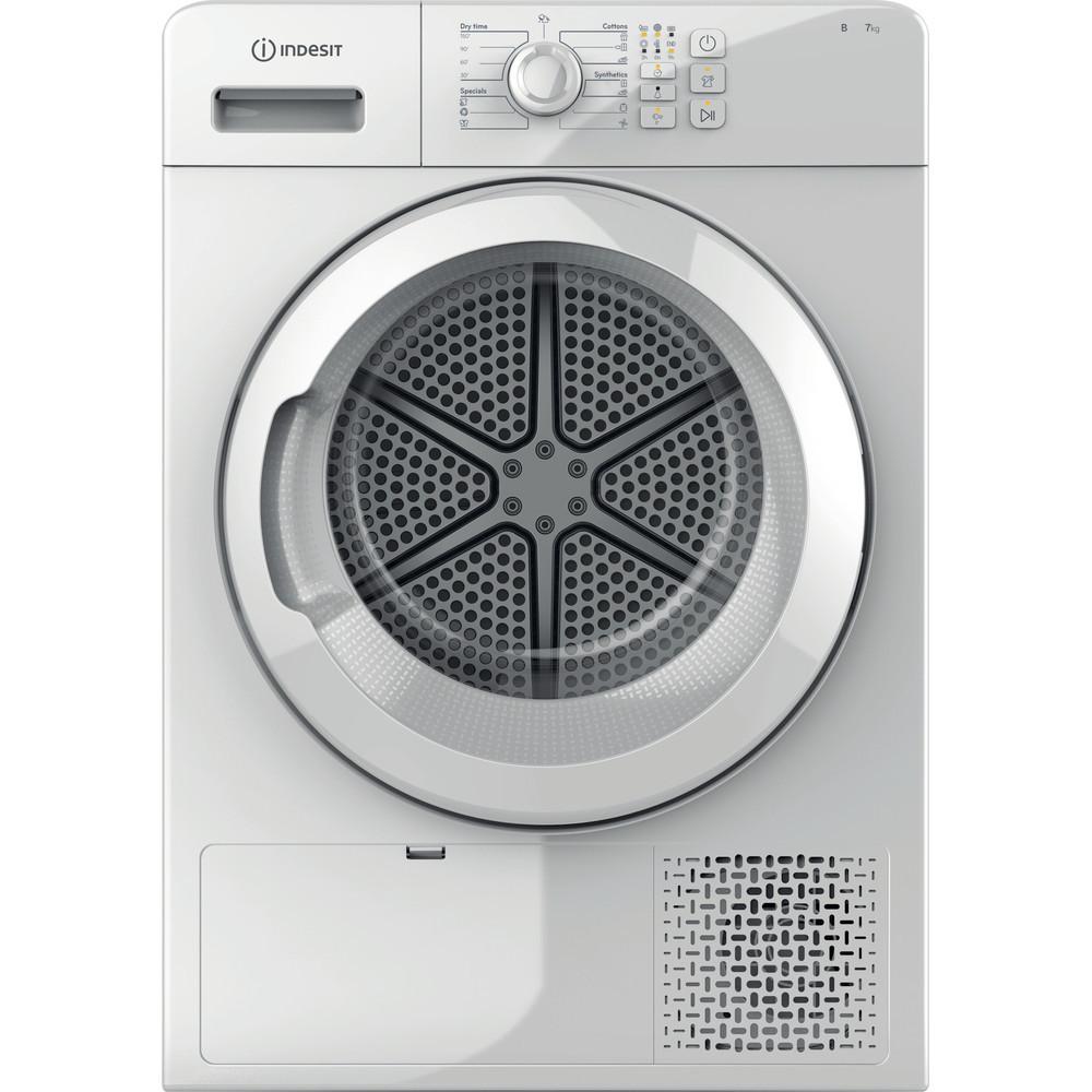 INDESIT Condenser Dryer YT CM08 7B EU Energy efficiency class B, Front loading, 7 kg, Condensation, LED, Depth 64.9 cm, White