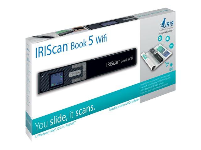 I.R.I.S. IRIScan Book 5 Wi-Fi Käsiskanner 1200 x 1200 DPI A4 Must