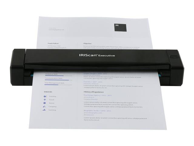 I.R.I.S. IRIScan Executive 4 Poogna-skänner 600 x 600 DPI A4 Must