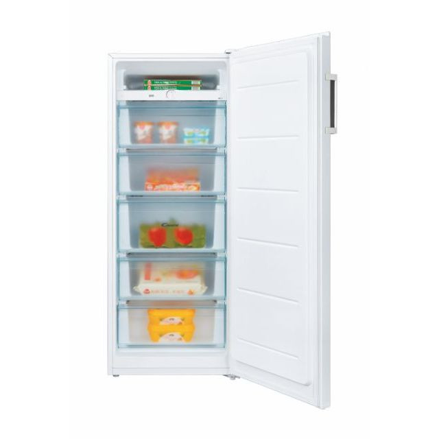 Candy Freezer CMIOUS 5142WH/N Energy efficiency class F, Upright, Free standing, Height 142 cm, Total net capacity 160 L, White