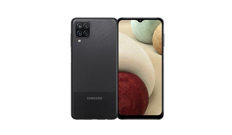 "Samsung Galaxy A12 A125 Black, 6.5 "", PLS IPS, 720 x 1600, Internal RAM 4 GB, 128 GB, microSDXC, Dual SIM, Nano-SIM, 3G, 4G, 5G, Main camera 48+5+2+2 MP, Secondary camera 8 MP, Android, 10.0, 5000 mAh"