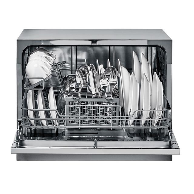 Candy Dishwasher CDCP 6S Table, Width 55 cm, Number of place settings 6, Number of programs 6, Energy efficiency class F, Silver