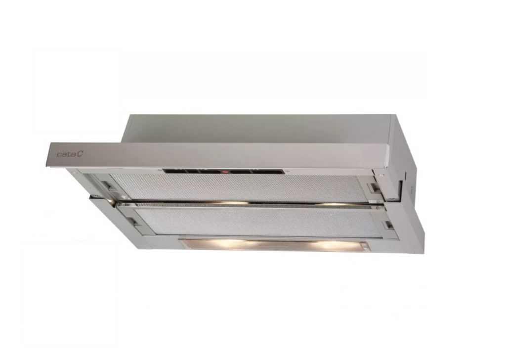 CATA Hood TFH 5250 X Telescopic, Energy efficiency class D, Width 50 cm, 325 m³/h, Slider control, LED, Inox