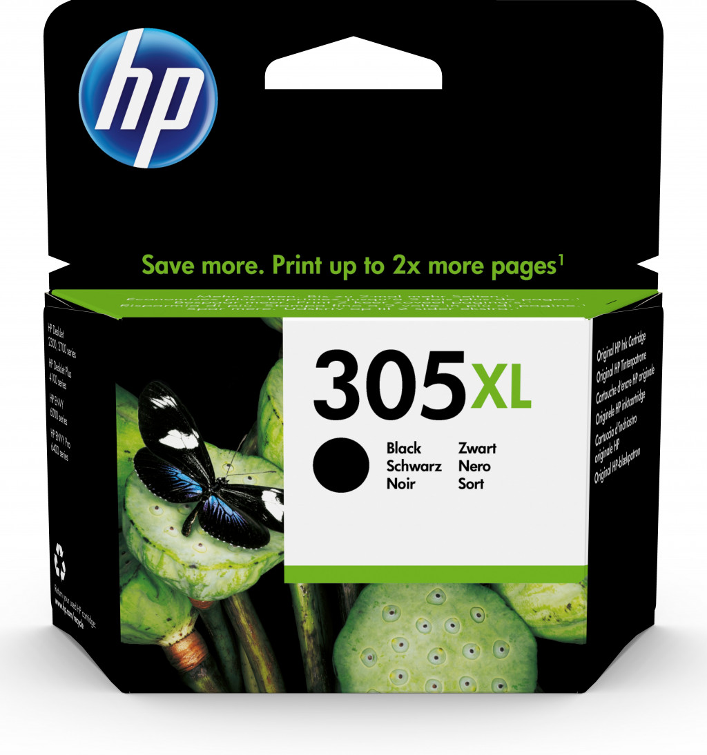 HP ink cartridge No. 305XL black, high capacity