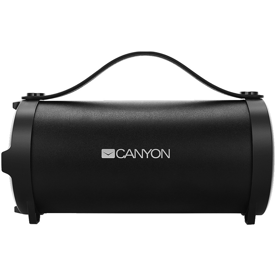 CANYON BSP-6 Bluetooth Speaker, BT V4.2, Jieli AC6905A, TF card support, 3.5mm AUX, micro-USB port, 1500mAh polymer battery, Black, cable length 0.6m, 242*118*118mm, 0.834kg