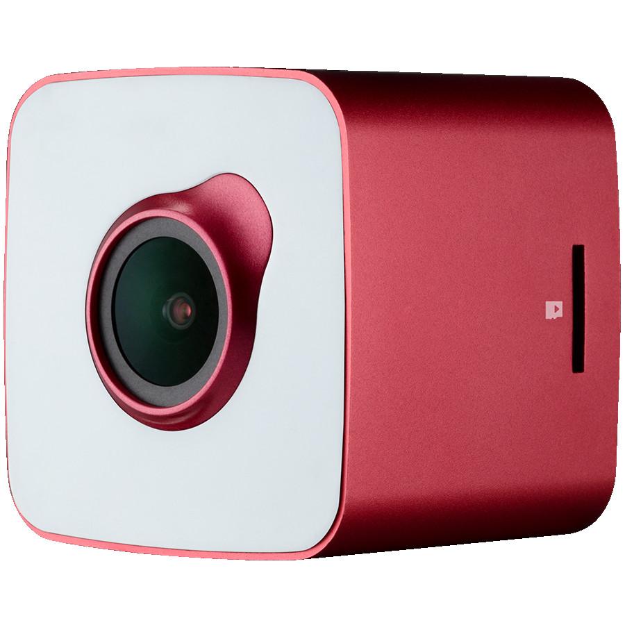 Car Video Recorder PRESTIGIO RoadRunner CUBE (FHD 1920x1080@30fps, 1.5 inch screen, 2 MP CMOS SONY IMX323 image sensor, 2 MP camera, 140° Viewing Angle, Micro USB, 150 mAh, WiFi, Motion Detection, G-sensor, Cyclic Recording, red/white, Metal+Plastic)