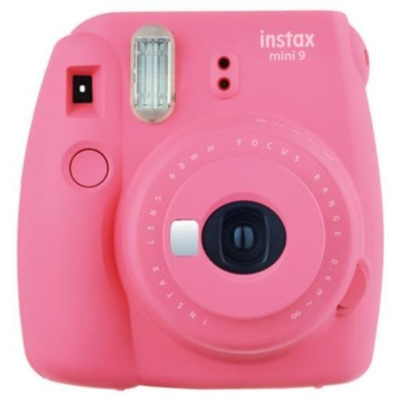 Instax Mini 9 pink + frame + case + album