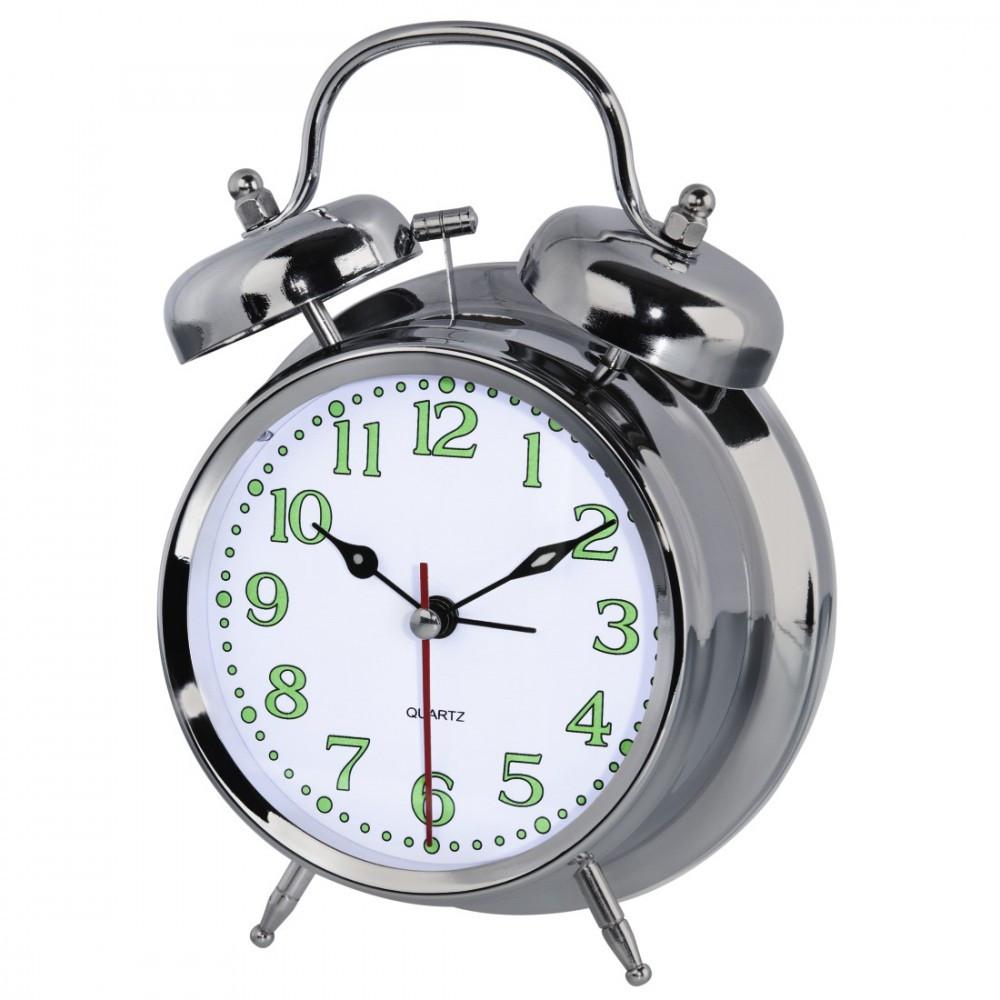 Alarm clock Hama Nostalgia silver