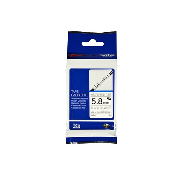 Brother HSE-211 Black on white, TZe, 1.5 m, 5.8 mm