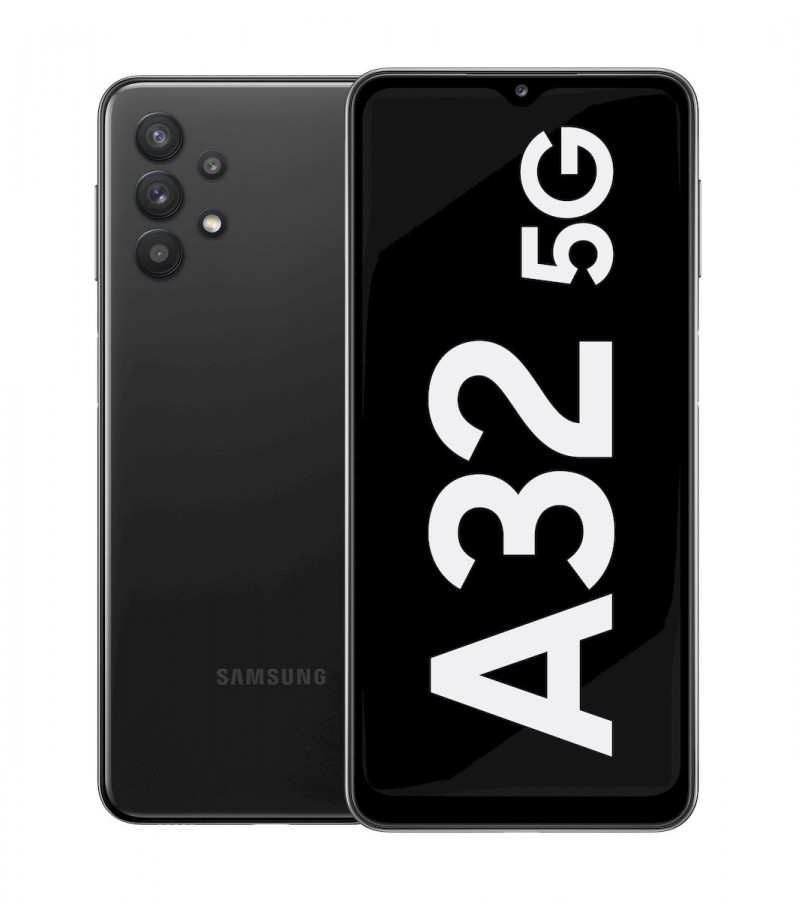 "Samsung Galaxy A32 5G Black, 6.5 "", TFT, 720 x 1600, MediaTek MT6853 Dimensity 720 5G, Internal RAM 4 GB, 64 GB, microSD, Dual SIM, Nano-SIM, 3G, 4G, Main camera Quad 48+8+5+2 MP, Secondary camera 13 MP, Android, 11, 5000 mAh"
