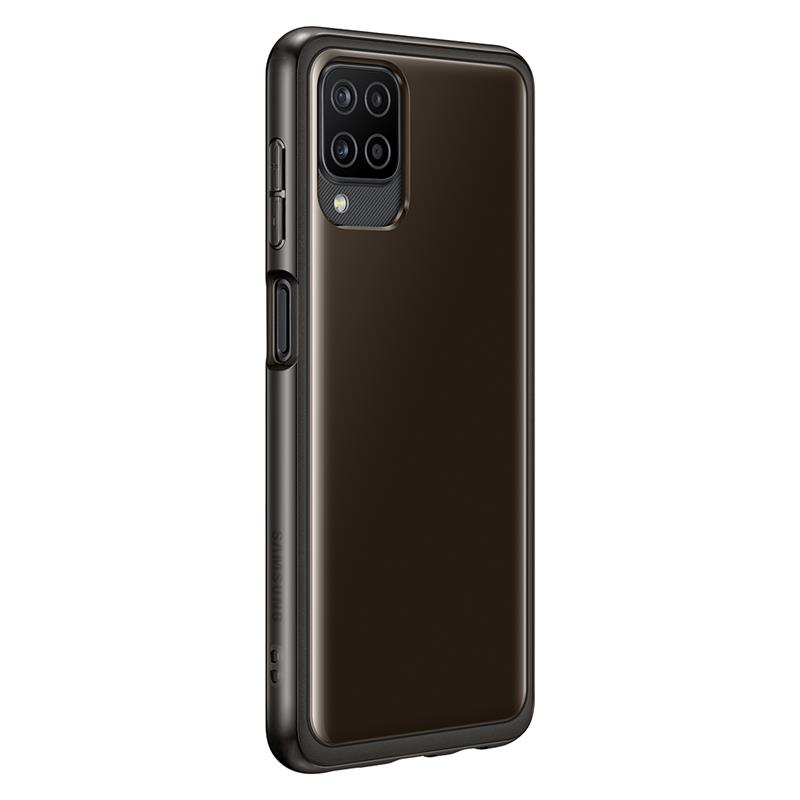 Samsung Galaxy A12 Soft Clear Cover TPU, Black