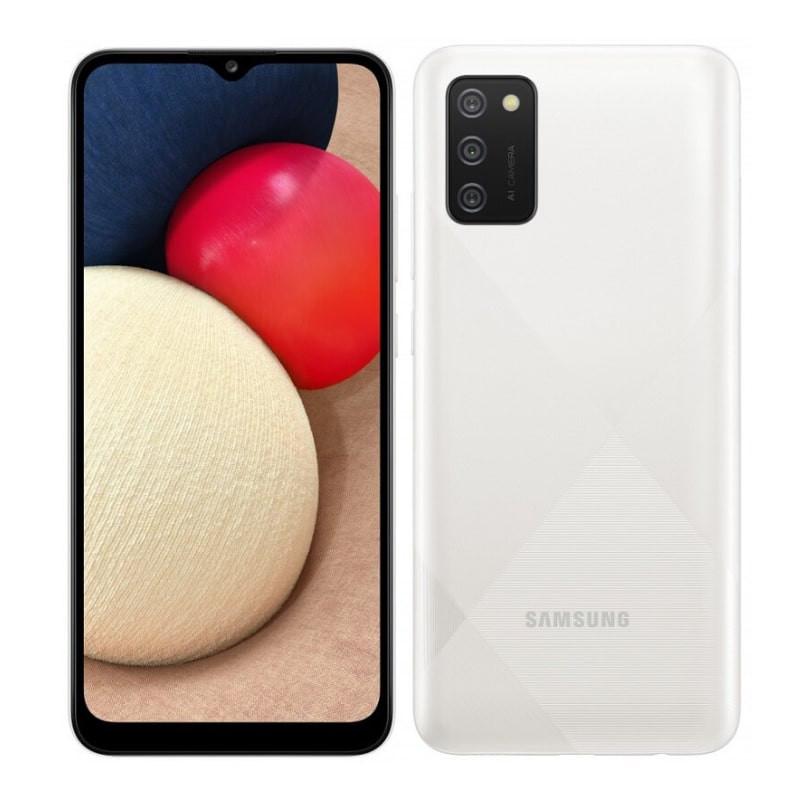 "Samsung Galaxy A02s White, 6.5 "", PLS IPS, 720 x 1600, Qualcomm SDM450 Snapdragon 450, Internal RAM 3 GB, 32 GB, microSDXC, Dual SIM, Nano-SIM, 3G, 4G, Main camera 13+2+2 MP, Secondary camera 5 MP, Android, 10, 5000 mAh"