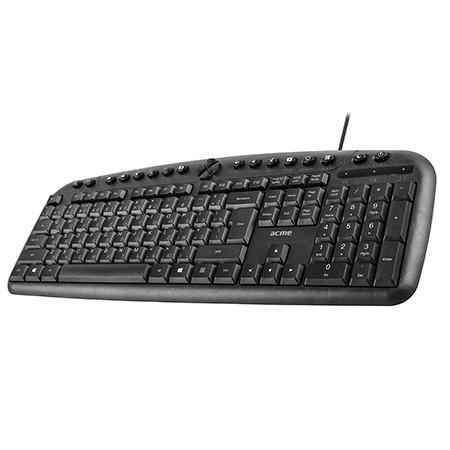 SALE OUT. ACME KM09 Convenient multimedia keyboard EN/LT/RU