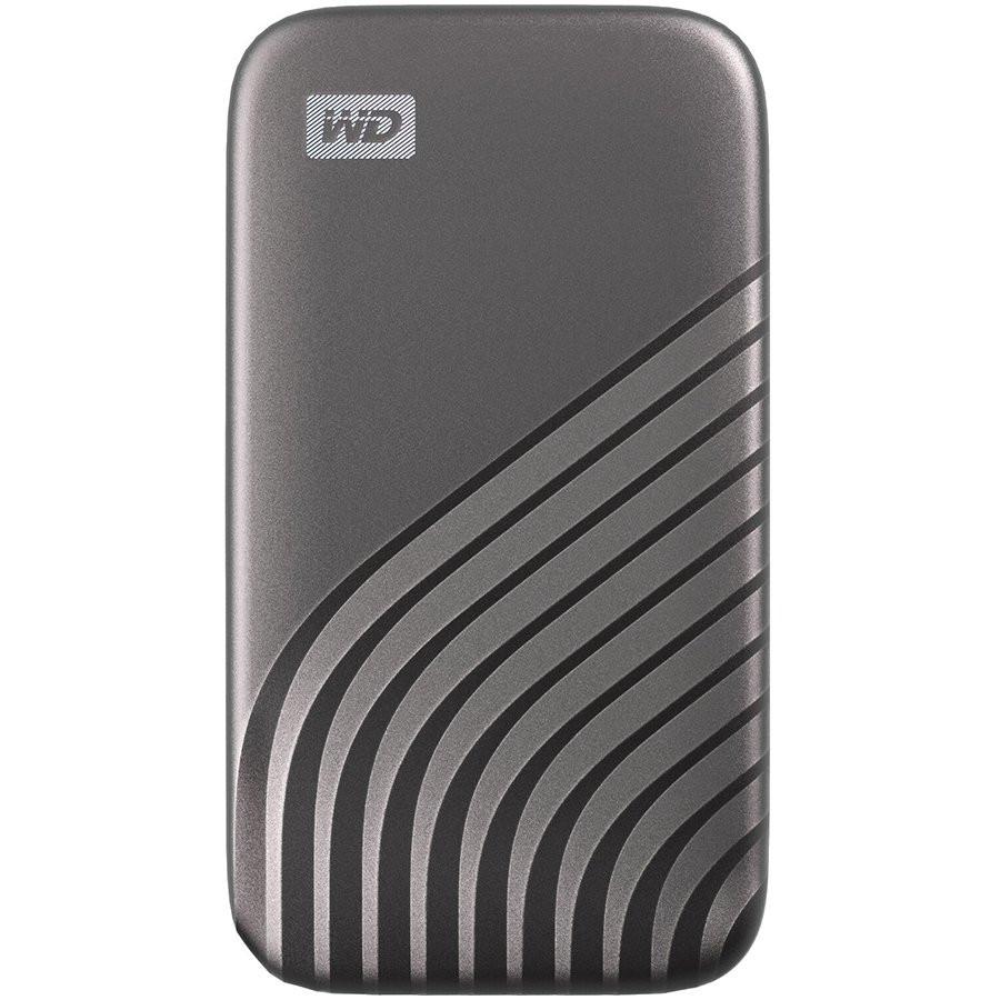 WD My Passport External SSD 1TB USB 3.2, Silver, 1050MB/s Read, 1000MB/s Write, PC & Mac Compatiable