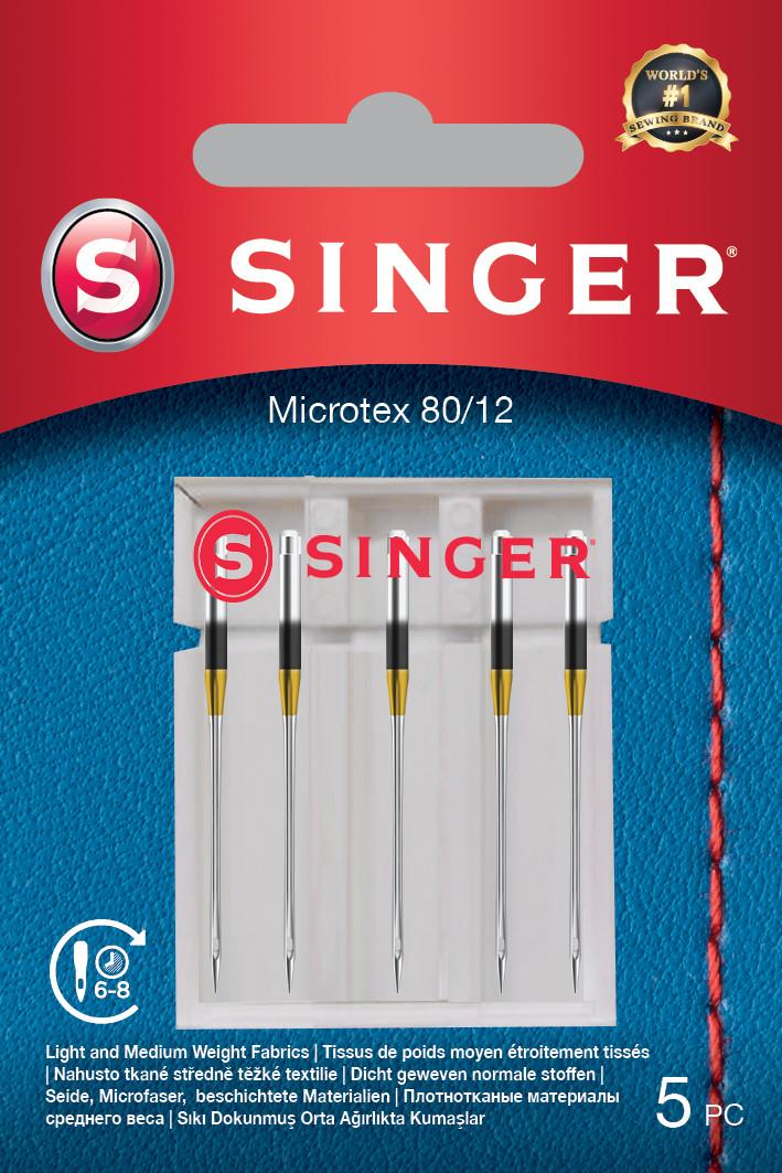 Singer Microtex Needle 80/12 5PK
