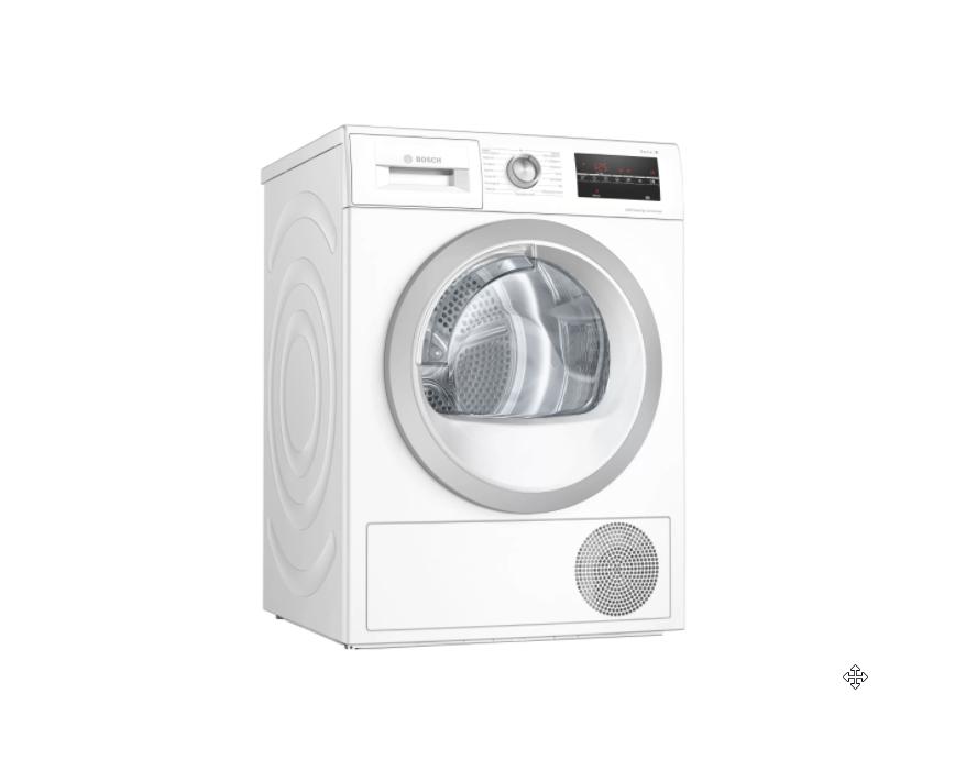Bosch Dryer mashine WTW85T9SSN Energy efficiency class A++, Front loading, 9 kg, Sensitive dry, LED, Depth 60 cm, White