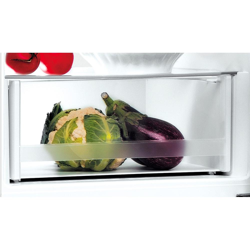 INDESIT Refrigerator LI9 S1E W Energy efficiency class F, Free standing, Combi, Height 201.3 cm, Fridge net capacity 261 L, Freezer net capacity 111 L, 39 dB, White