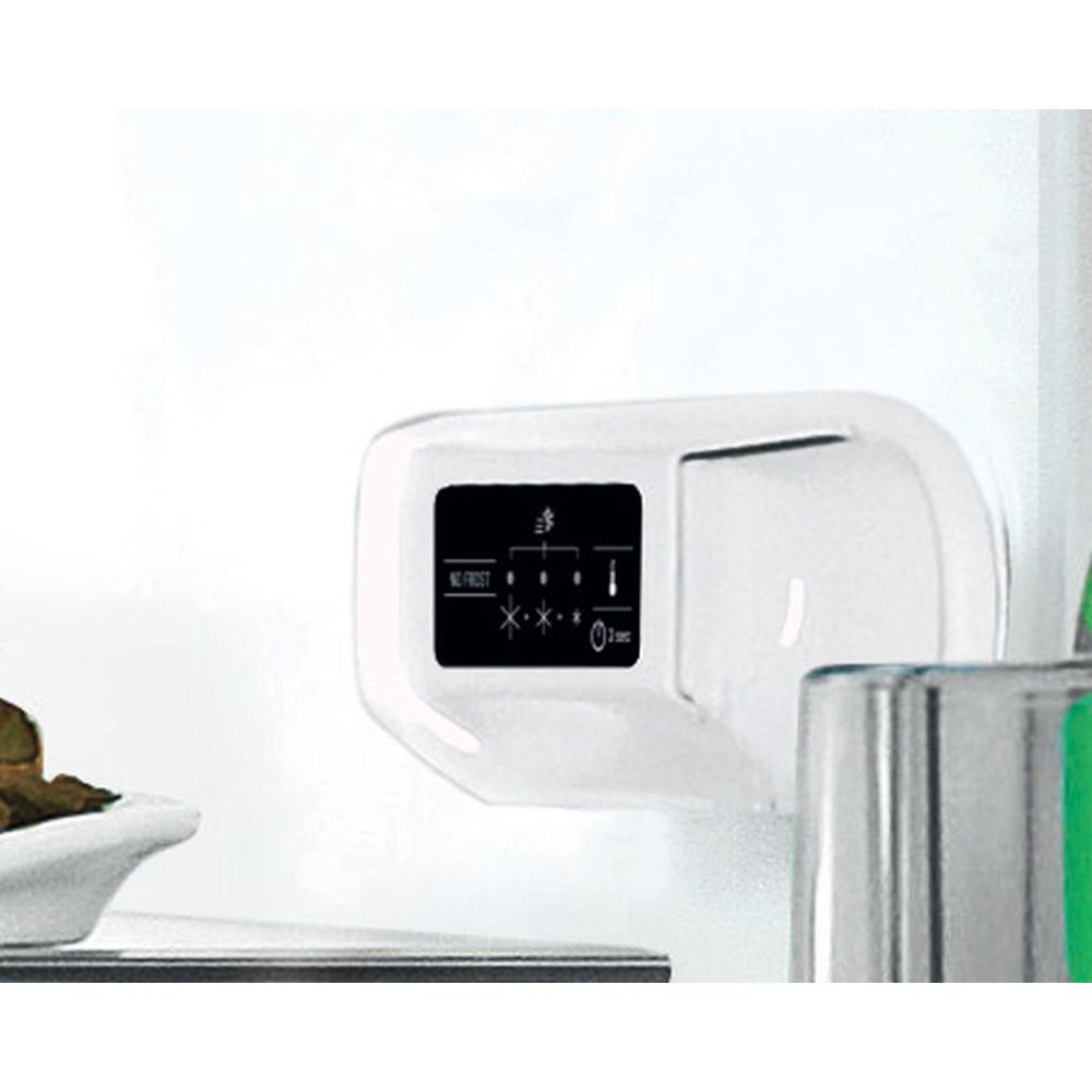 INDESIT Refrigerator LI7 SN1E X Energy efficiency class F, Free standing, Combi, Height 176.3 cm, No Frost system, Fridge net capacity 197 L, Freezer net capacity 98 L, 40 dB, Inox