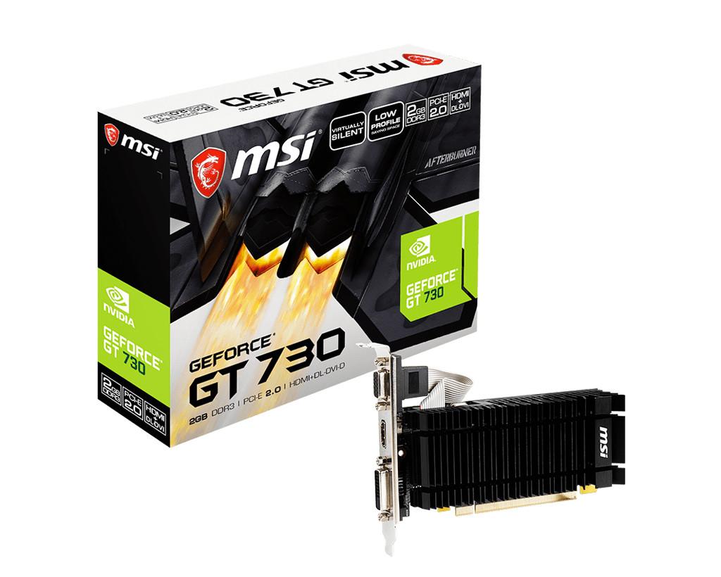 MSI GeForce GT 730 2GB Low Profile black