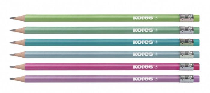 Harilik pliiats Kores Grafitos Style, kolmnurksed, kustutuskummiga