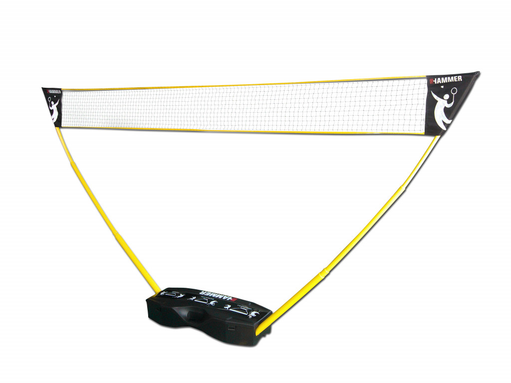 Hammer 3in1 Net Set for Volleyball, Badminton and Tennis Black/Yellow