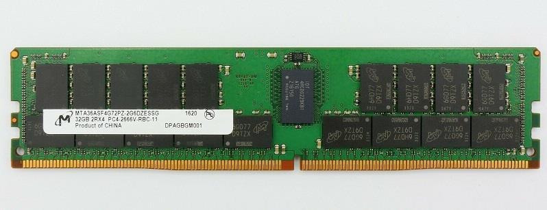 Server Memory Module|MICRON|DDR4|32GB|RDIMM/ECC|2666 MHz|CL 19|1.2 V|MTA36ASF4G72PZ-2G6E1