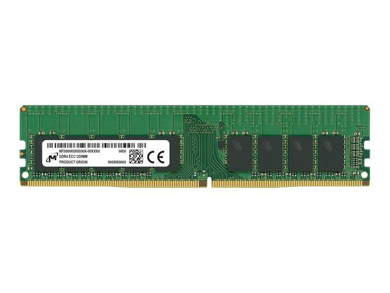 Server Memory Module|MICRON|DDR4|16GB|UDIMM/ECC|3200 MHz|CL 22|1.2 V|MTA9ASF2G72AZ-3G2B1