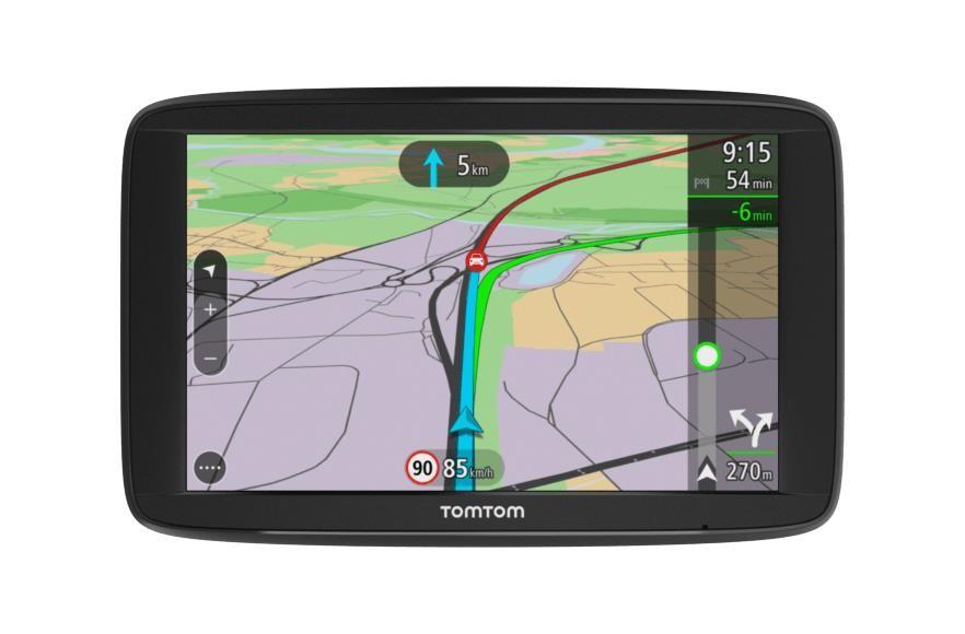 """TomTom VIA 62 EU45 navigaator 15,2 cm (6"""") Puutetundlik ekraan Fikseeritud Must 280 g"""